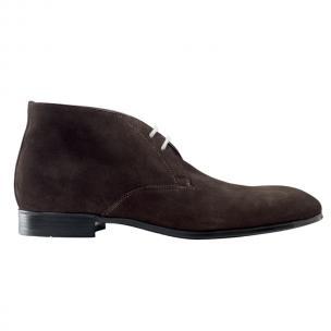 Santoni Urban S3 Suede Chukka Boots Dark Brown Image