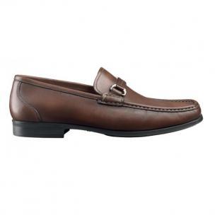 Santoni Vance Side Buckle Loafers Brown Image