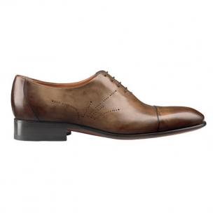 Santoni Vincenzo Cap Toe Bal Oxfords Brown Image