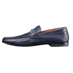 Santoni Wake 6 Bit Loafers Blue Image