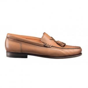 Santoni Warden Calfskin Tassel Loafers Tan Image