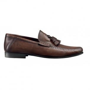 Santoni Tassel Loafers (Black) Image