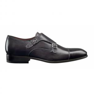 Santoni Windsor Double Monk Strap Cap Toe Shoes Image