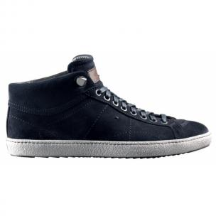 Santoni Zeus CH6 Suede Sneakers Blue Image