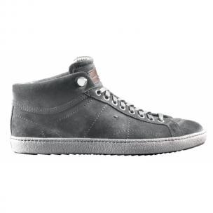 Santoni Zeus CH9 Suede Sneakers Gray Image