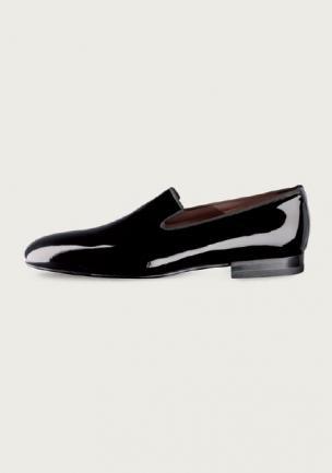 Santoni Shoes Merv Patent Leather Slip On Image