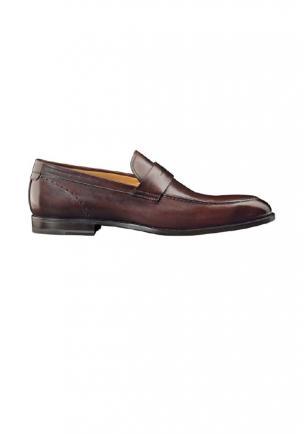 Santoni Shoes Patrick Calfskin Loafers Image