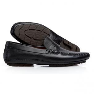 Stemar Nappa Leather Driving Shoes Black Image