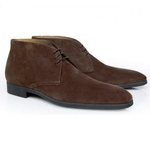 Stemar Trieste Suede Chukka Boots Chocolate Brown Image