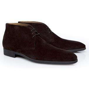 Stemar Trieste Suede Chukka Boots Dark Brown Image