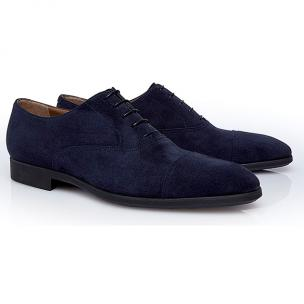 Stemar Udine Suede Cap Toe Shoes Blue Image