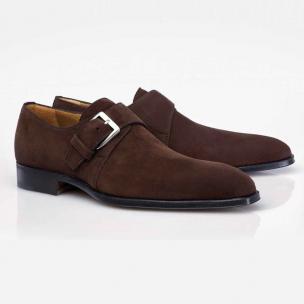 Stemar Cremona Suede Monk Strap Shoes  Image