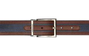 Stemar Ischia Nubuck Belt Navy/Brown Image
