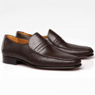 Stemar Jesolo Nappa Leather Loafers Brown Image