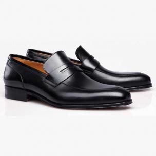 Stemar Napoli Calfskin Penny Loafers Black Image