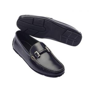 TB Phelps Milano Horsebit Driving Loafers Black Image