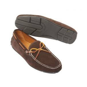 TB Phelps Verona Suede Twist Tie Driving Loafers Brown Image