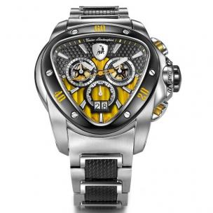 Tonino Lamborghini Spyder 1116 Stainless Steel Chronographic Watch Black/Yellow Image