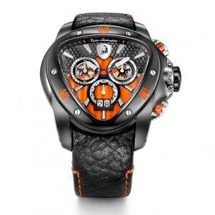 Tonino Lamborghini Spyder 1118 Chronographic Watch Black/Orange Image