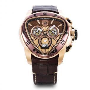 Tonino Lamborghini Spyder 1120 Chronographic Watch Brown/Gold Image