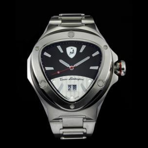 Tonino Lamborghini Spyder 3021 Stainless Steel 3-Hand Watch Black/White Image