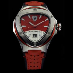 Tonino Lamborghini Spyder 3026 3-Hand Watch Red/Chrome Image