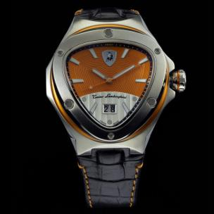 Tonino Lamborghini Spyder 3032 3-Hand Watch Orange Image