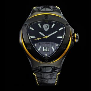 Tonino Lamborghini Spyder 3037 3-Hand Watch Black Image