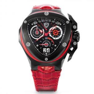 Tonino Lamborghini Spyder 3018 Chronographic Watch Black/Red Image