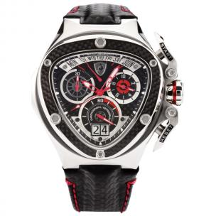 Tonino Lamborghini Spyder 3020 Chronographic Watch Black/Chrome Image