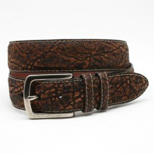 Torino Leather Antiqued African Elephant Belt Cognac Image