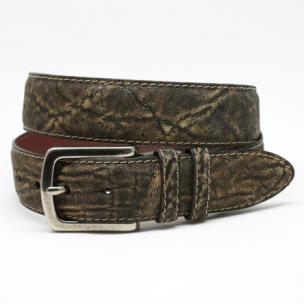 Torino Leather Antiqued African Elephant Belt Olive Image