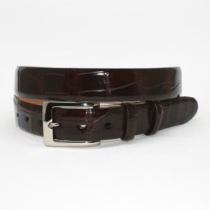 Torino Leather Genuine Alligator Belt Brown Image