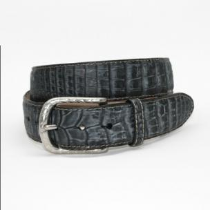 Torino Leather Buffed Caimain Belt Black Image