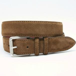 Torino Leather European Suede Belt Whiskey Image