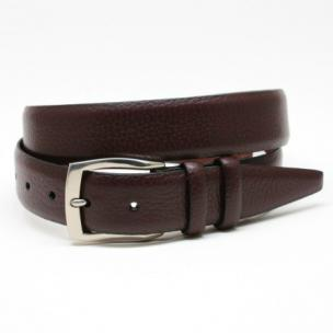 Torino Leather Soft Pebble Grain Belt Cordovan Image