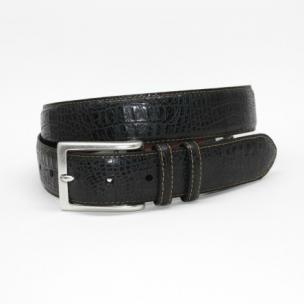 Torino Leather Alligator Embossed Calfskin Belt Black Image