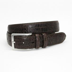 Torino Leather Alligator Embossed Calfskin Belt Chocolate Image