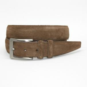 Torino Leather Italian Calf Suede Belt Whiskey Image