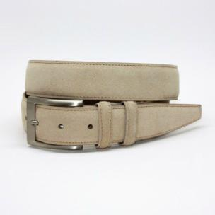 Torino Leather Italian Calf Suede Belt Sand Image