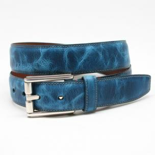 Torino Leather Oiled Shrunked Calfskin Belt Royal Image