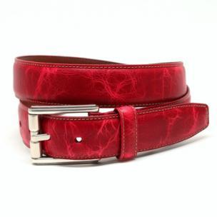 Torino Leather Oiled Shrunked Calfskin Belt Red Image