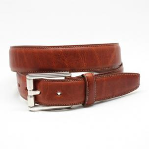 Torino Leather Oiled Shrunked Calfskin Belt Rust Image