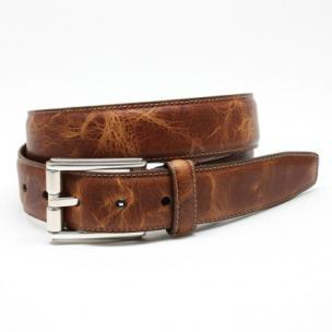 Torino Leather Oiled Shrunked Calfskin Belt Cognac Image