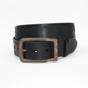 Torino Leather Age Distressed Harness Leather Belt Black Image