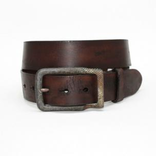 Torino Leather Age Distressed Harness Leather Belt Brown Image