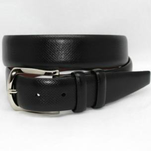Torino Leather Italian Bulgaro Calf Belt Black Image