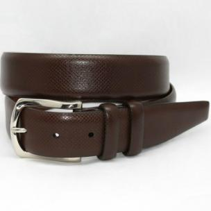 Torino Leather Italian Bulgaro Calf Belt Brown Image