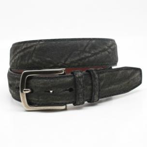 Torino Leather African Elephant Belt Gray Image
