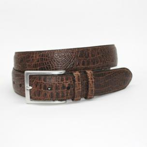 Torino Leather Alligator Embossed Calfskin Belt Cognac Image